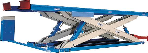 Ponti sollevatori elettroidraulici a forbice per automezzi for Ponte auto per officina usato